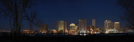 Panorama of New Orleans Skyline at Night