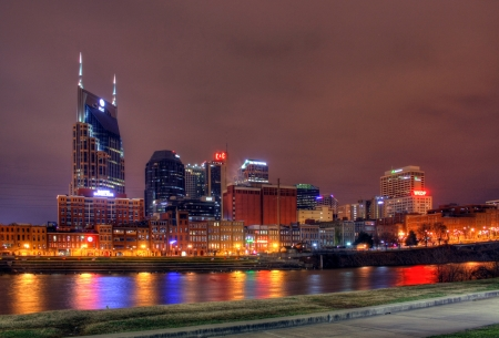 Photo for 10pm Nashville Tennessee editorial skyline January 17th 2012 - Royalty Free Image
