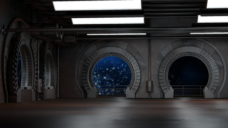 Photo pour Space environment, ready for comp of your characters.3D rendering - image libre de droit
