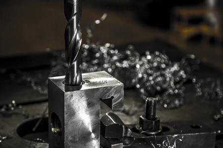 Photo pour Drilling machine industrial - image libre de droit
