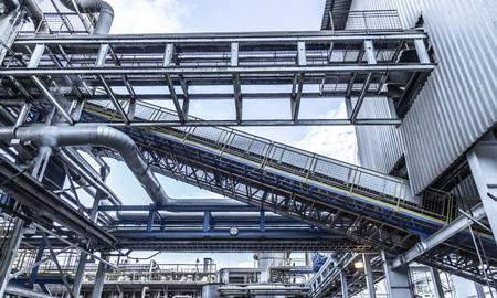 Photo pour Industrial sugar conveyor production line factory cane bagasse - image libre de droit