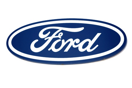 Ford logo. Brand of american car.