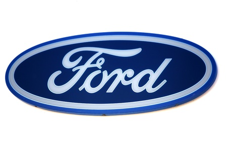Ford logo. Brand of american car.