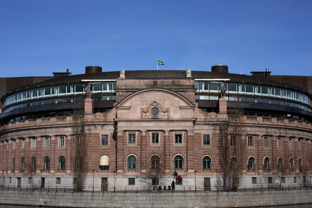 Riksdagen in Stockholm the swedish parlament