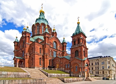 Uspensky Cathedral in Helsinki  Finland  Tourist destination