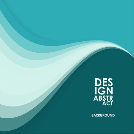 Illustration pour Abstract wavy background, waved lines for brochure, website, flyer design - image libre de droit