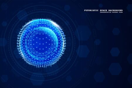 Illustration for Abstract technology background. Digital innovation concept for your design. - Royalty Free Image