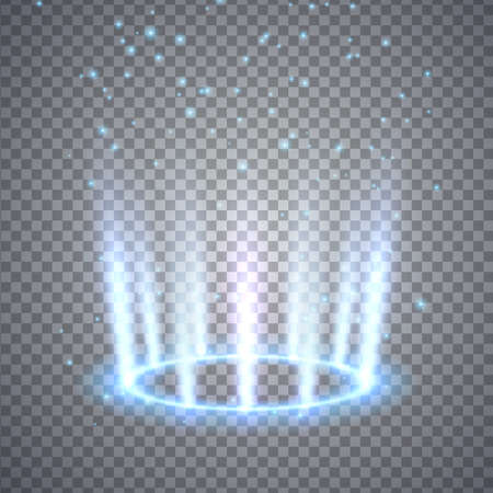 Photo for Glittering magic fantasy portal. Illustration isolated on transparent background. Graphic concept for your design - Royalty Free Image