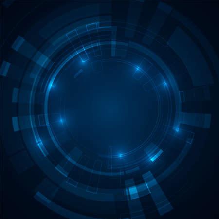 Illustration pour Abstract futuristic circles. Science technology machine. Graphic concept for your design - image libre de droit