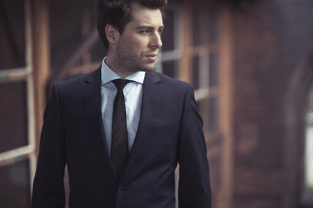 Foto de Handsome guy with fitted suit - Imagen libre de derechos
