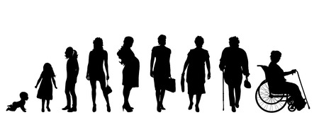 Illustrazione per Vector silhouette of a generation of people. - Immagini Royalty Free