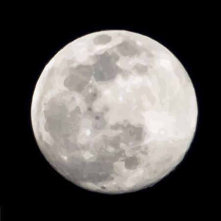 Illustration pour Vector illustration of moon. Symbol of night and universe. - image libre de droit