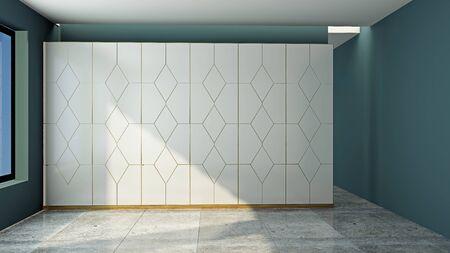 Photo pour Modern wardrobe in the room 3D rendering - image libre de droit
