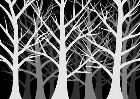 Illustration pour dark forest full of trees - image libre de droit