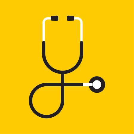 Illustration for Vector of stethoscope icon on isolated background - Royalty Free Image