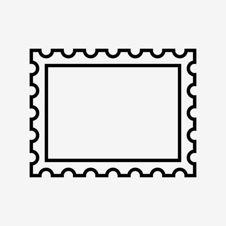 Ilustración de postage stamp icon, on white background. vector illustration - Imagen libre de derechos