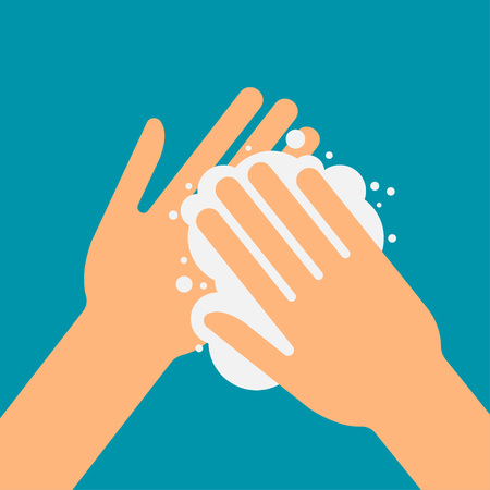 Illustration pour please wash your hands, vector illustration icon, health care - image libre de droit