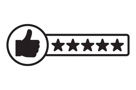 Illustration pour Rating of consumer satisfying. Customer review icon. Vector illustration - image libre de droit