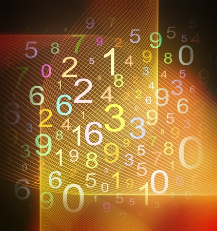 colorful numbers on grid textured background