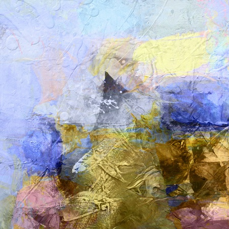 colorful abstract painted background - created by combining different layers of paint