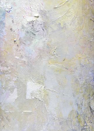 Foto de abstract layer artwork, opaque and transparent oil paint textures on canvas - Imagen libre de derechos