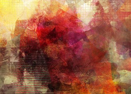 Foto de abstract decorative contemporary mixed media artwork - Imagen libre de derechos