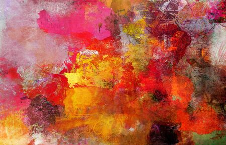 Photo pour Abstract paint textures background created by using different photographs, scans and hand painted layers, acrylics and oils. Art, leisure, subdued, rough, backdrop. - image libre de droit