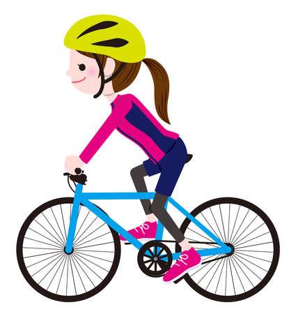 Illustration pour Cycling Woman - image libre de droit