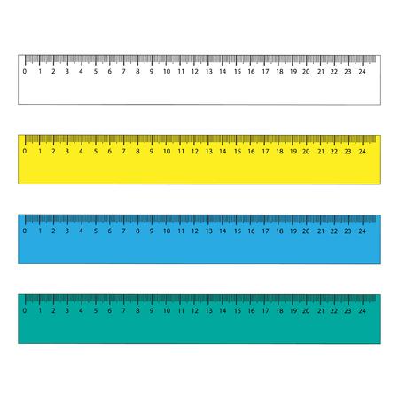 Illustration pour Rulers in centimeters and millimeters. Vector illustration set. - image libre de droit