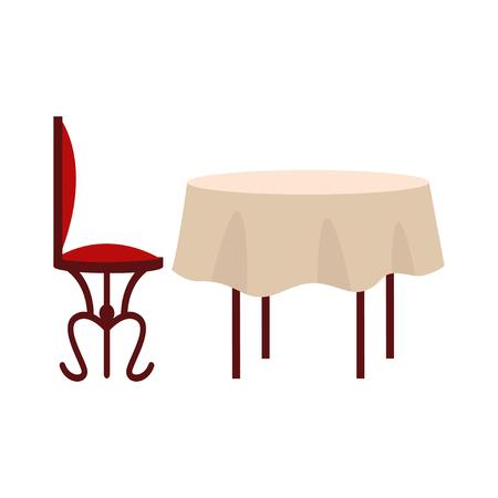 Illustration pour Table with chairs icon - image libre de droit