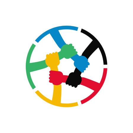 Illustration pour Teamwork Vector Icon - image libre de droit