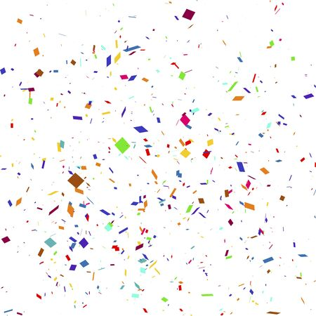 Illustration for Vector illustration of a colorful party background with confetti. - Royalty Free Image
