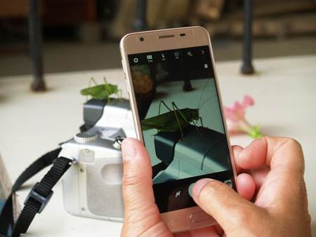 photograph on the phone in real time