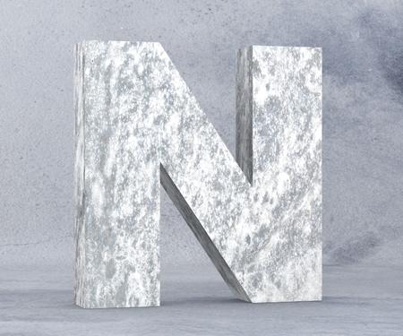 Concrete Capital Letter - N