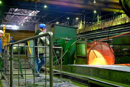 metallurgical plant, rolled wire, rod production