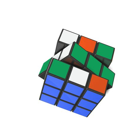 Illustration for  Minsk, Belarus, 4 February 2018 . Editorial vector illustration. Rubik s Cube is a 3D combination puzzle invented in 1974 by Hungarian sculptor and professor of architecture Erno Rubik  - Royalty Free Image