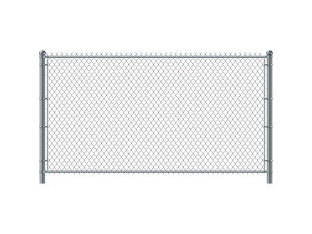 Illustration pour Chain link fence panel. Metal Wire Fence. - image libre de droit
