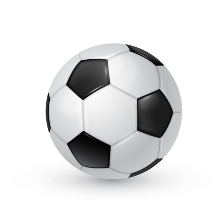 Illustration pour Soccer ball realistic vector illustration isolated on white background. - image libre de droit