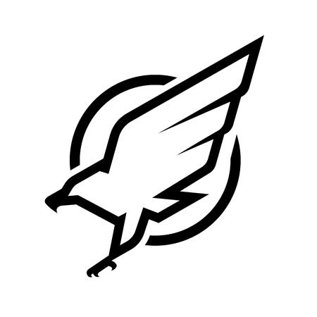 Ilustración de Eagle emblem symbol design. - Imagen libre de derechos
