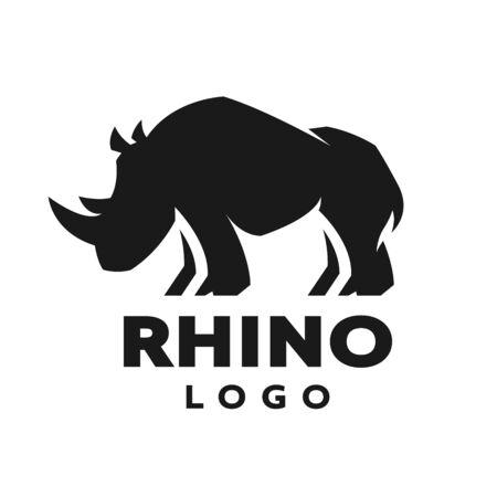 Illustration pour African rhino silhouette. symbol. Vector illustration. - image libre de droit