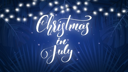 Christmas In July Royalty Free Images.Christmas In July Tropical Background With Exotic Palm