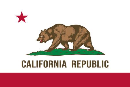 Illustration for California state flag. Vector illustration - Royalty Free Image
