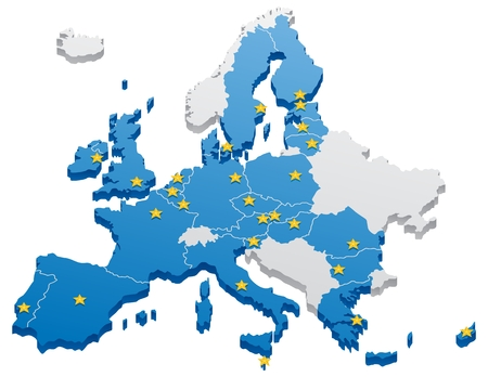 Map of the European Union.