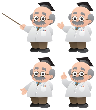 A professor in 4 different poses.