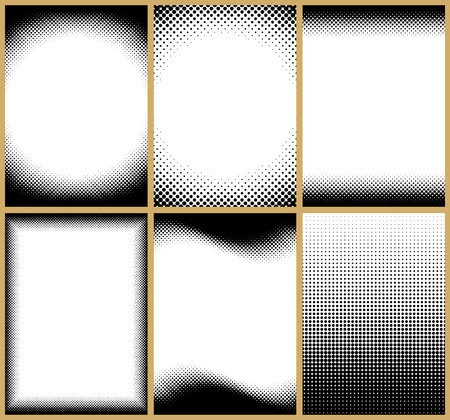 A set of 6 halftone frame patterns. All of them can be tilled vertically. You can also change their height easily.