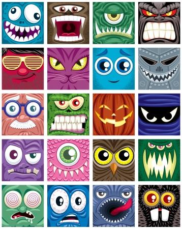 Set of 20 square avatars.