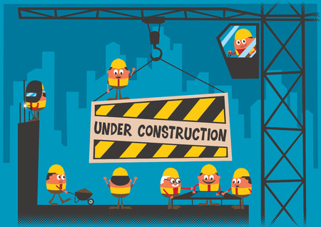 Photo for Under Construction background  - Royalty Free Image