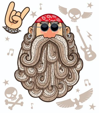 Ilustración de Cartoon illustration of rocker. - Imagen libre de derechos