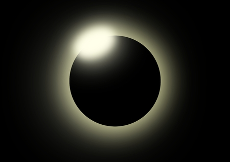 This image shows a solar eclipse.