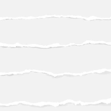 Illustration pour Collection of seamless torn paper on transparent background - image libre de droit